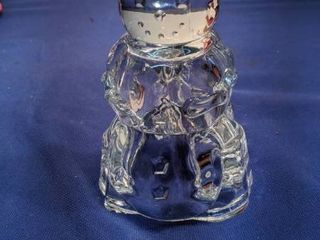 new snowman candle holder 24  lead crystal