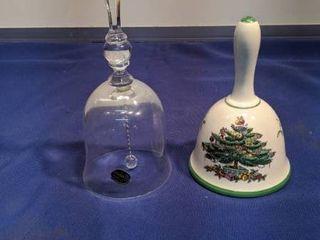 two Christmas bells