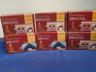 six boxes of celebration 100 indoor outdoor random twinkling icicle lights new inbox