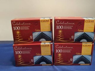 4 boxes celebration 100 indoor outdoor shimmering icicle lights new in boxes