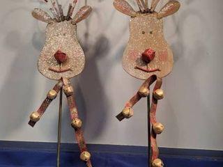 2 reindeer stakes