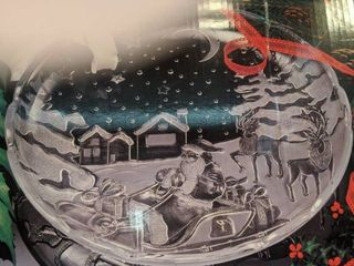 Crystal Clear studio sleigh bells platter new inbox