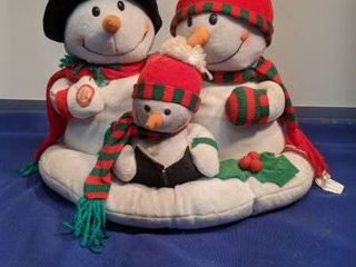 snowman s family singing jingle bells heads moves nose lights up