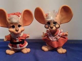 Mr and Mrs Christmas mice