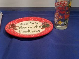 Santa s favorite cookie plate new inbox and glass of milk for Santa