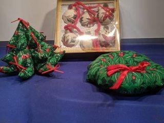 Christmas balls tree and wreath