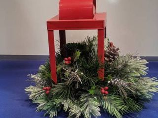 Christmas candle holder centerpiece