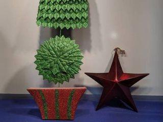 metal Christmas tree and star