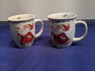 two Santa cups