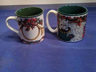 two Christmas mugs new inbox box been open