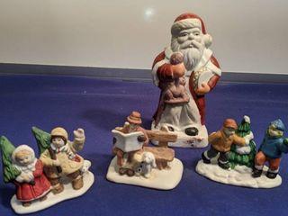 village people and Santa Claus