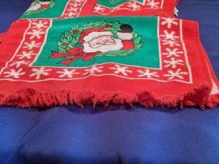 three Santa s hand towels