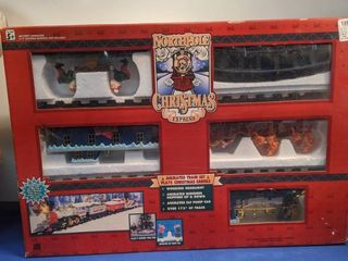 North Pole Christmas Express train set in box box been open untested