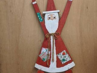 hanging Santa Claus on one side witch on the other