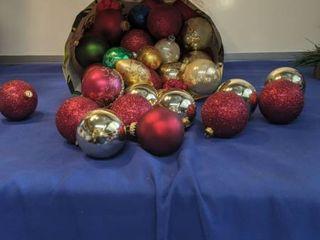 Sack of Christmas ornaments