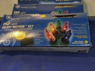 3 boxes of 150 merry motion light sets untested