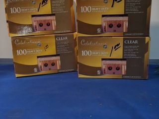 4 boxes of 100 heavy duty icicle light sets indoor outdoor use new inbox
