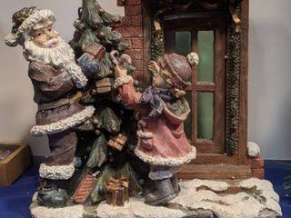 Christmas scene 15 1 2 x 15  with box