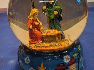 musical Nativity snow globe