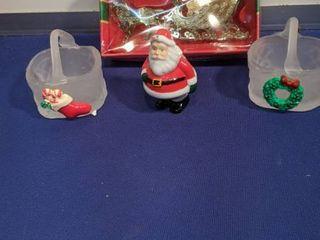 Christmas basket Santa and ornament