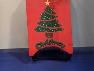 Christmas sled wall decor