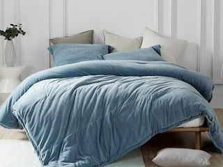 Coma Inducer Queen Comforter   Baby Bird   Smoke Blue  Retail 111 49