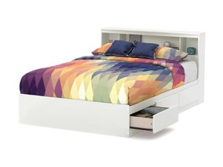 South Shore Reevo White Full size Mates Bed  Base Only  Retail 547 99