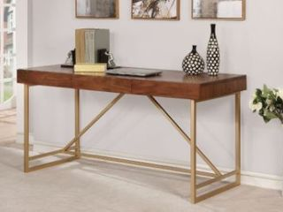 Furniture Of America Halstein Walnut Wood Modern Style Writing Desk