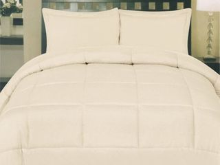 Box Stitch Polyester Down Alternative Queen Comforter by Sweet Home Collection