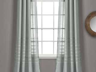 Set of 2 84 x52  Bridie Sheer Window Curtain Panels Gray   lush Decor