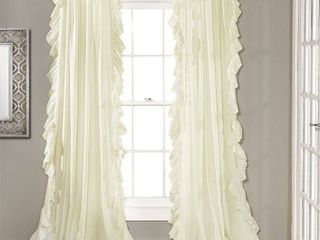 84 x54  Reyna Rod Pocket light Filtering Window Panel Ivory   lush Decor