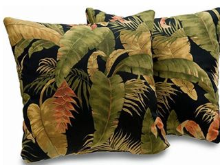 Kokomo Tropical leaf Print 18 inch Decorative Throw Pillows  Set of 2