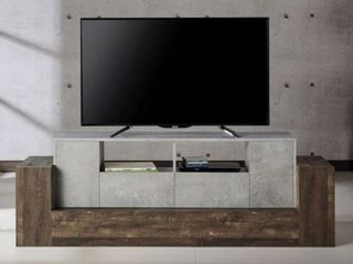 Furniture of America Geso Industrial 71 inch Oak TV Stand   Retail 319 49