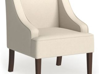 Porch  amp  Den lyric Cream Swoop Arm Accent Chair  Retail 188 99