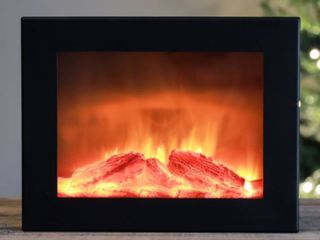 Medium Faux Fireplace lED Plaque 18 5 X10 5