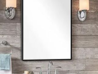Modern large Black Rectangle Wall Mirrors for Bathroom Vanity Mirror 32  x 24  Retail 102 49