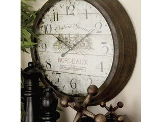 The Gray Barn Jartop Bordeau x Metal Wall Clock