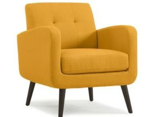 Carson Carrington Keflavik Gold Yellow Mid Century Accent Chair   Retail 238 00