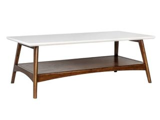 Madison Park Avalon White  Pecan Coffee Table   Retail 216 49