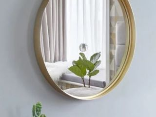 20  Round Art Wall Mirror Metal Frame