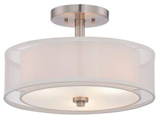 Parsons Studio Brushed Nickel 3 light Semi Flush By Minka lavery  Retail 99 99