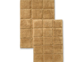 Impressions Rosholt Solid Cotton 2 Piece Bath Rug Set