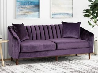 Ansonia 3 Seat Contemporary Velvet Sofa by Christopher Knight Home  Retail 734 99