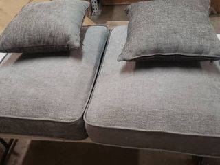 26  x 21  Couch Cushions Grey  With 2 Toss Pillows