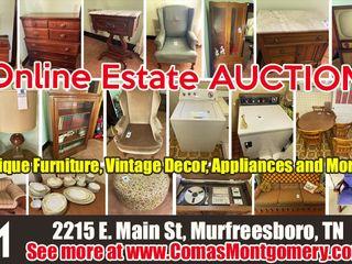 Online Only AUCTION: Antique Furniture - Vintage Decor - Appliances - and More