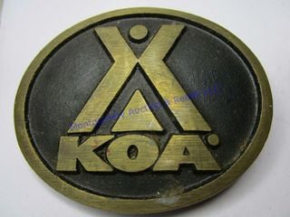 KOA CAMPGROUND BUCKlE