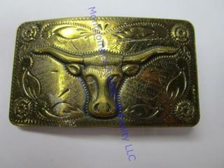 HORNED COW BUCKlE