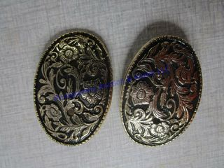 2 ORNATE YOUTH BUCKlES