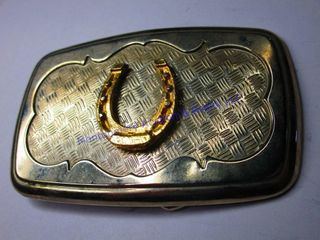 lUCKY HORSESHOE BUCKlE