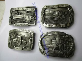 1985 SERIES OF 4 BUCKlES